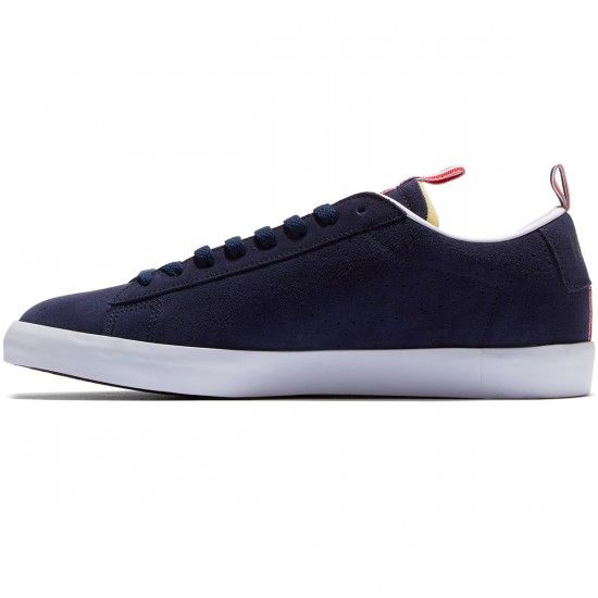 Nike SB X 917 Blazer Low Premium QS Shoes - Obsidian/White/Red - 6.0