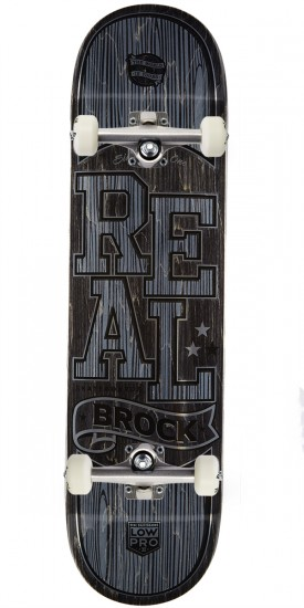 Real Brock Timber LowPro 2 Skateboard Complete - 8.06""