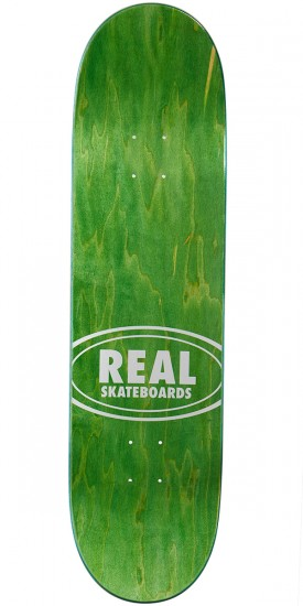 """Real Double Dipped Oval Skateboard Deck - 8.38"""" - Black Red"""