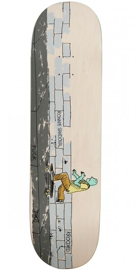 Krooked Ronnie Where the Sidewalk Ends Skateboard Deck - 8.38""