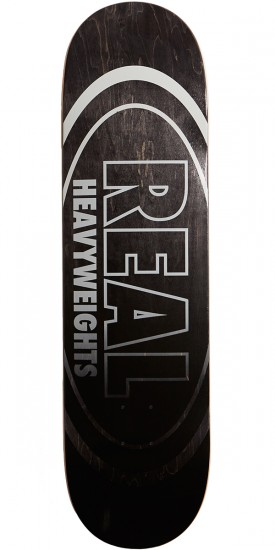 Real Heavyweights Black Skateboard Complete - 8.50""