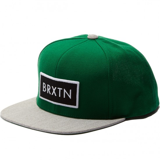 Brixton Rift Snapback Hat - Hunter Grey