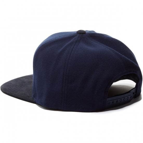 Brixton Rift Snapback Hat - Navy Brown
