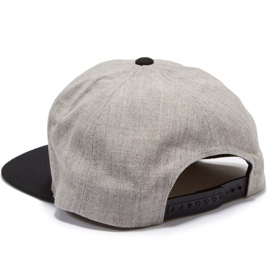 Brixton Rift Snapback Hat - Light Heather Grey/Black