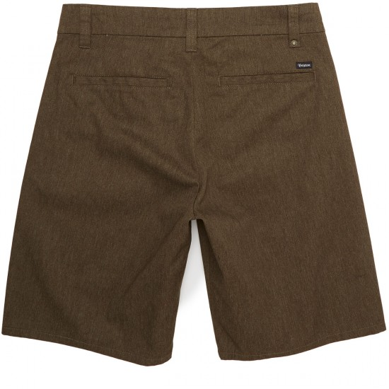 Brixton Carter Chino Shorts - Heather Brown