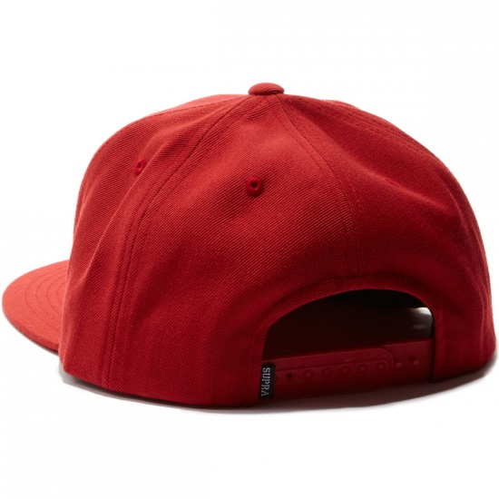 Supra Icon Snap Hat - Red