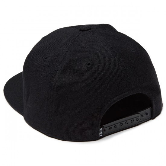 Supra Icon Snap Hat - Black/Aqua