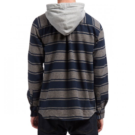 Altamont Wafford Hooded Shirt - Navy/Tan