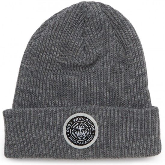 Obey Classic Patch Beanie - Heather Grey
