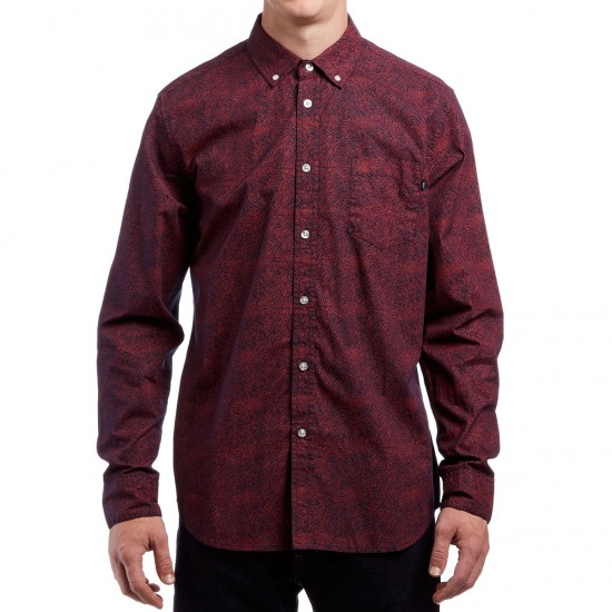 Obey Thicket Long Sleeve Shirt - Navy Multi