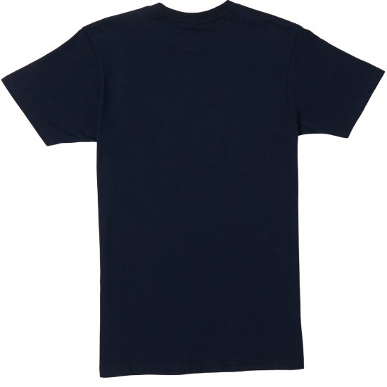 Obey Channel Zero T-Shirt - Navy