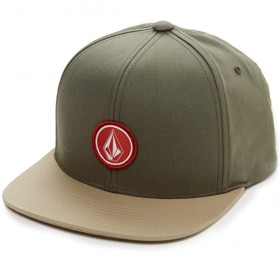 Volcom Quarter Twill Hat - Army Green Combo