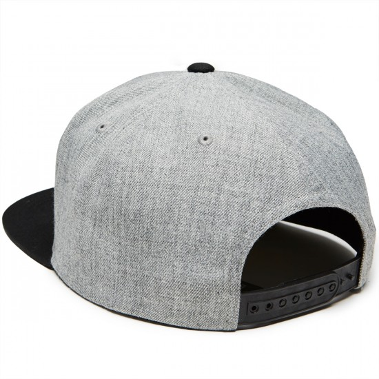 Volcom Quarter Twill Hat - Black Grey