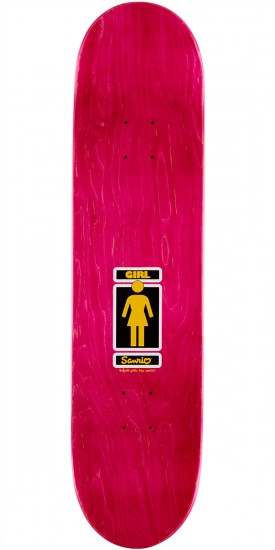 Girl X Sanrio Mike Mo Gudetama Skateboard Deck - 8.0""