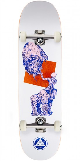 Welcome Wax Gorilla on Moontrimmer 2.0 Skateboard Complete- White - 8.5