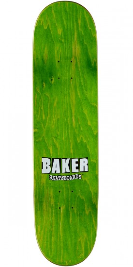 Baker Theotis Stacked Name Skateboard Complete - Blue/Yellow - 8.3875