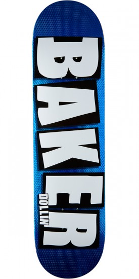 Baker Dollin Holo Brand Name Skateboard Deck - Blue - 8.0