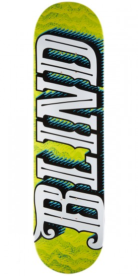 Blind Line Up HYB Skateboard Deck - Green/Yellow - 8.0""