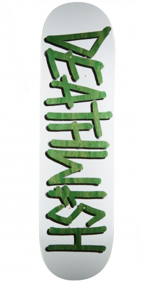 Deathwish Deathspray Punch Out Skateboard Deck - 8.25 - Green Stain