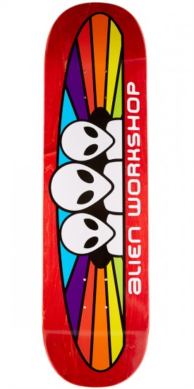 "Alien Workshop Spectrum Skateboard Deck - 8.25"" - Red Stain"