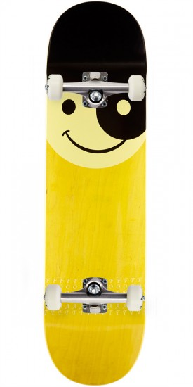 """Format Smileyang Skateboard Complete- 8.25"""" - Yellow Stain"""