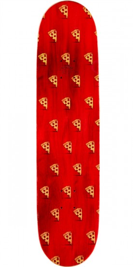 """Pizza God Loves Pizza Skateboard Complete- 8.125"""" - Red Stain"""