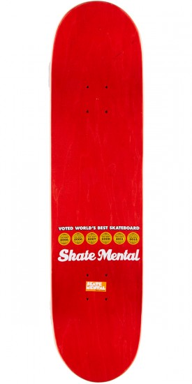 "Skate Mental Plunkett Dan's Neck Skateboard Deck - 8.00"" - Red Stain"