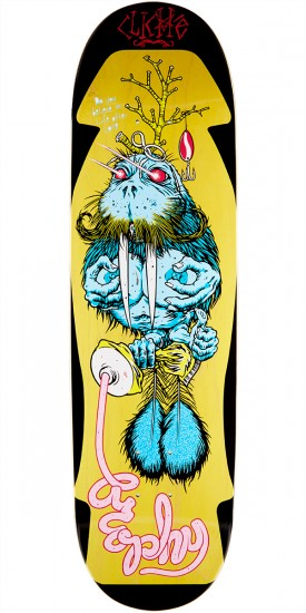 """Cliche Brophy Walrus by Cliver R7 Skateboard Deck - Yellow Stain - 8.625"""""""