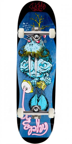 """Cliche Brophy Walrus by Cliver R7 Skateboard Complete- Blue Stain - 8.625"""""""