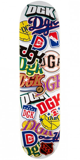 DGK All Star White Skateboard Deck - 7.75""