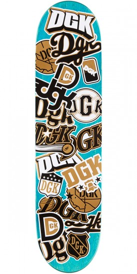 DGK All Star Black Skateboard Deck - 8.10""