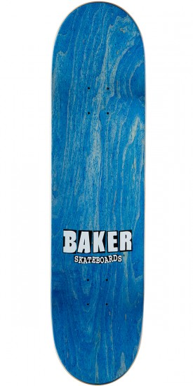 Baker Reynolds Smiley Skateboard Deck - 8.125 - Light Green Stain