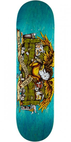 Anti Hero Obese Eagle Skateboard Deck 9 00 Quot Teal Stain