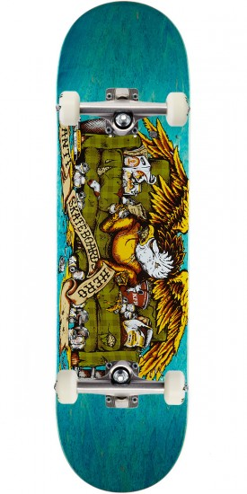 """Anti-Hero Obese Eagle Skateboard Complete - 9.00"""" - Teal Stain"""