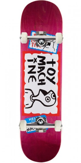 Toy Machine Hello Skateboard Complete - 8.375 - Pink Stain