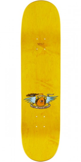 Toy Machine Hello Skateboard Deck - 8.375 - Yellow Stain