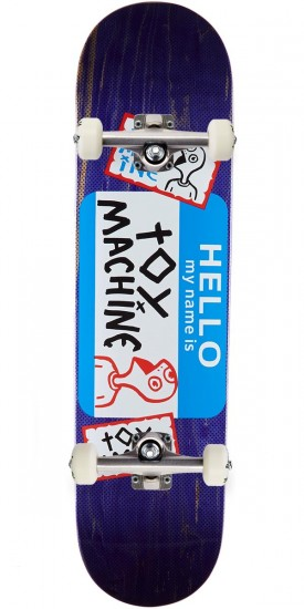 Toy Machine Hello Skateboard Complete - 8.125 - Purple Stain