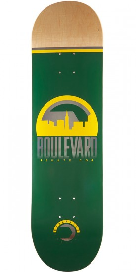 Boulevard Traveler Green Skateboard Deck - 8.50""