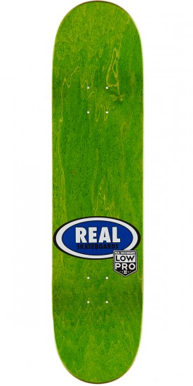 """Real Brock Timber LowPro 2 Skateboard Deck - 8.06"""" - Yellow/Black Stain"""