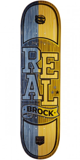 "Real Brock Timber LowPro 2 Skateboard Deck - 8.06"" - Blue/Yellow Stain"