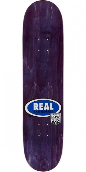 """Real Brock Timber LowPro 2 Skateboard Deck - 8.06"""" - Blue/Yellow Stain"""