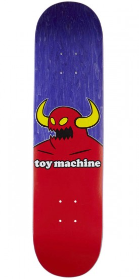 Toy Machine Monster Skateboard Deck - Purple Stain - 7.75""