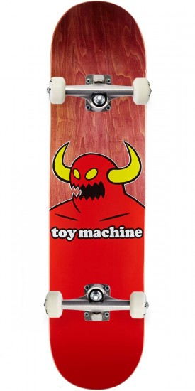 """Toy Machine Monster Skateboard Complete - Brown Stain - 7.75"""""""