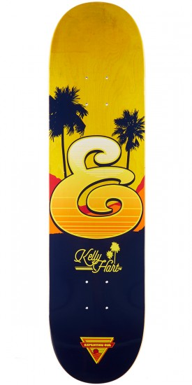 """Expedition Kelly Hart Coastal Skateboard Deck - 8.06"""" - Yellow Stain"""