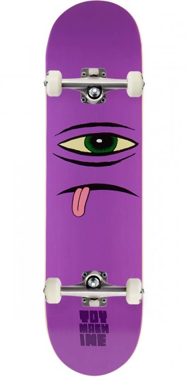 Toy Machine Sect Face Purple Skateboard Complete - 8.00""