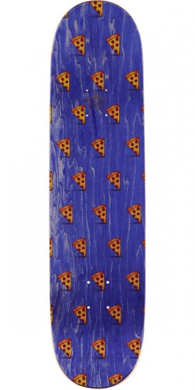 "Pizza Emoji Pattern Skateboard Deck - 8.00"" - Purple Stain"
