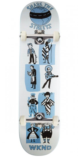 """WKND Share The Streets Skateboard Complete 8.125"""""""