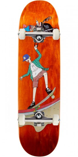 Lipstick Danny Sargent Jay Howell Design Skateboard Complete - Orange - 8.25""