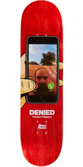 "Skate Mental Kleppan Denied Skateboard Deck - 8.125"" - Red Stain"
