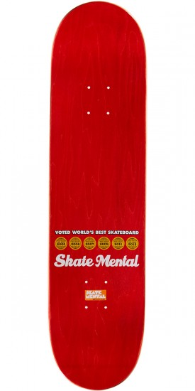 "Skate Mental Kleppan Denied Skateboard Complete - 8.125"" - Red Stain"